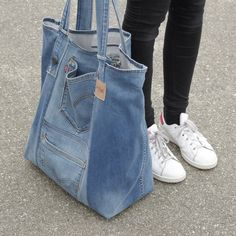 Big denim tote