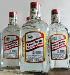 Aguardiente (anise-flavored liqueur), Colombia. Morgan's South American going away party