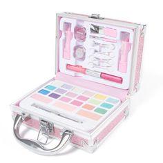 Claire's Glitter Travel Case Makeup Set – Pink – Famous Last Words Claire's Makeup, Cute Makeup, Makeup Cosmetics, Makeup Sets, Makeup Kit For Kids, Kids Makeup, Teenage Makeup, Makeup Kits For Tweens, Glitter Mascara