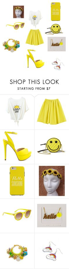 """This little light of mine."" by laurie-egan on Polyvore featuring ALDO, Betsey Johnson, BCBGMAXAZRIA, Venessa Arizaga and Hannah Makes Things"