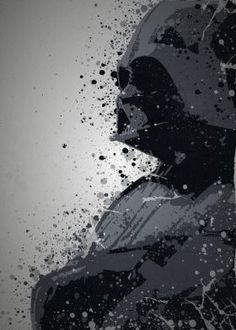 """Dark Side"" Splatter effect artwork inspired by Darth Vader From The Star Wars movies"