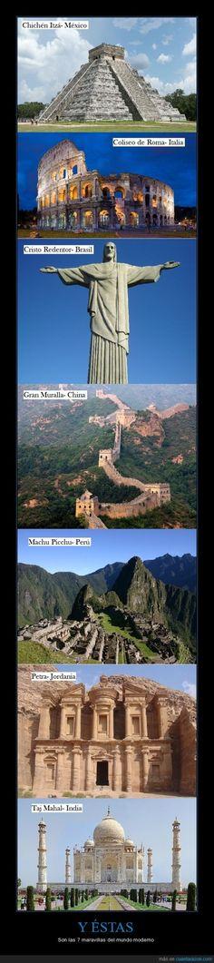 Y ÉSTAS - Son las 7 maravillas del mundo moderno