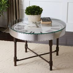Uttermost Cassem Clock Table. You won't lose track of the time easily