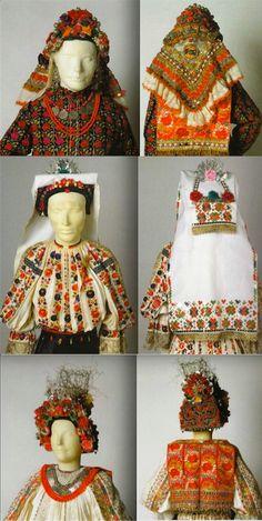 Baranja Folk Costume, Costumes, Folk Clothing, Heartstrings, World Cultures, Traditional Dresses, Folk Art, Crochet Hats, Embroidery