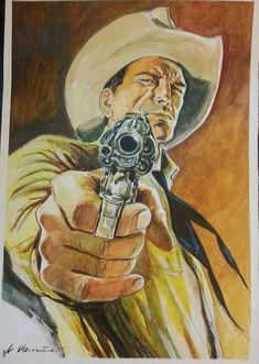 Western Comics, Western Art, Art Sketches, Art Drawings, Heroes Reborn, Marijuana Art, Gun Art, Mundo Comic, Cowboy Art