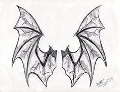 Holly if you are following I was thinking a little bigger like across the shoulders and maybe the third or fourth digits from the top as feathered though shadowed if that makes sense.  Are you still game?   Bat Wings Tattoo Design by Rendezvous2279.deviantart.com on @deviantART