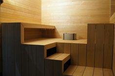 sauna asuntomessut - Google-haku Sauna Steam Room, Sauna Room, Saunas, Outdoor Sauna, Outdoor Pool, Indoor Outdoor, Electric Sauna Heater, Portable Sauna, Sauna Design