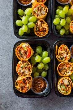 Thai Chicken Wraps Bistro Boxes Meal-Prep Your favorite Thai flavors packed into these simple, healthy and delicious chicken wraps with spicy peanut sauce. These Starbucks style wraps take less than 30 mins to come together and make bistro… Clean Eating Snacks, Healthy Snacks, Healthy Eating, Healthy Recipes, 30 Min Meals Healthy, Keto Recipes, Healthy Packed Lunches, Diabetic Meals, Simple Recipes