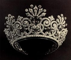 one of Alexandra Romanov's Tiaras- black diamonds in the tiara can not get any better
