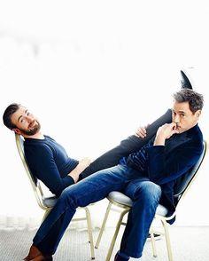 Chris Evans & Robert Downey Jr for #PeopleMagazine. #ChrisEvans #RobertDowneyJr #Chris #Evans #Cevans #TeamCevans #TeamCap