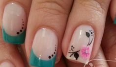 From general topics to more of what you would expect to find here, nail-art-stickers. Cute Pink Nails, Purple Nails, Pretty Nails, Nail Candy, Girls Nails, French Tip Nails, Flower Nail Art, Christmas Nail Art, Nail Decorations