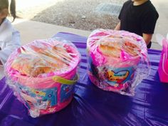 Doc McStuffins containers, used as party favours or to serve food