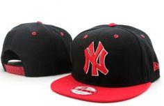 Casquette NY New York Yankees MLB Snapback Noir Rouge   Casquette Pas Cher New  York Yankees f8657015e96d