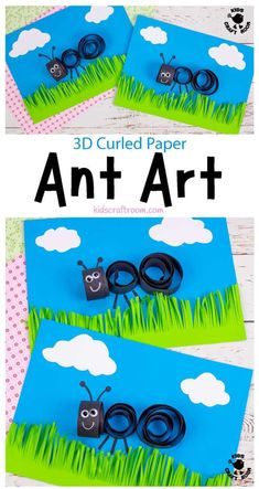 How cute is this 3D Curled Paper Ant Craft? It's a great way to introduce kids to quilling. It's a lovely ant art idea to use as a Summer Camp craft and it's fun for insect fans all year round. #kidscraftroom #kidscrafts #kidsart #quilling #ants #summercampcrafts #summercrafts