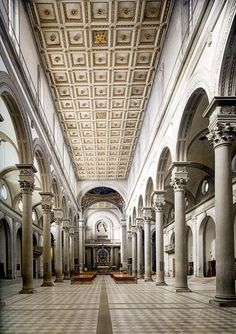 Brunelleschi,Basilica di San Lorenzo,1419 e 1422-61,Firenze