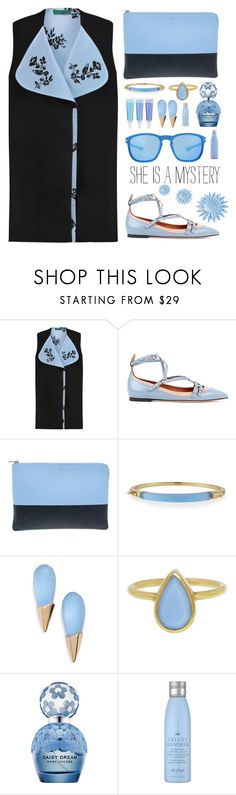 """""""style  #371"""" by simona-altobelli ❤ liked on Polyvore featuring Emilia Wickstead, Valentino, Alexis Bittar, Marc Jacobs, Drybar and Oakley"""