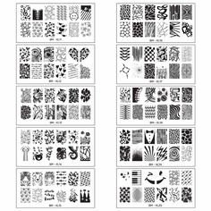 Bundle Monster 10pc Extra Large Full Nail Art Retangular Shape XL Stamping Plates, Set 2: 11-20 ** Be sure to check out this awesome product.
