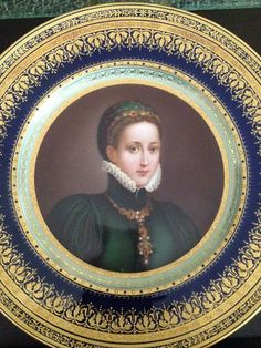 Absolutely Remarkable 19th C Royal Vienna Style Portrait Plate of A Noble Woman