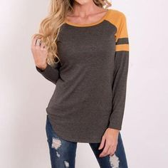 Striped Long-Sleeve Top ~ Choose From 3 Colors! - ZolaBug