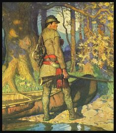 N.C WYETH: HAWKEYE... last of the mohicans, james fenimore cooper.