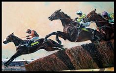 Long Run, Denman, and Kauto Star; and was painted by David Dent.
