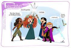 Disney Princess Drawings, Disney Princess Art, Disney Fan Art, Disney Drawings, Disney Dream, Cute Disney, Disney Magic, Funny Disney, Pocket Princess Comics