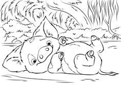 Dibujo para colorear de Vaiana (nº 14)