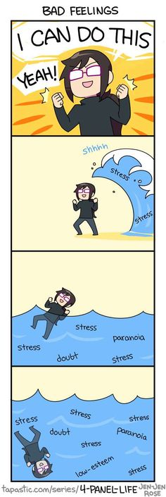 4-Panel Life :: BAD FEELINGS | Tapastic Comics - image 1