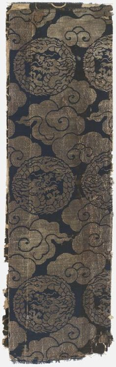 Japanese silk brocade panel.