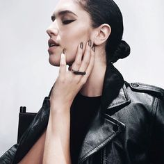 For a sophisticated look, slick back your tresses into a low bun.