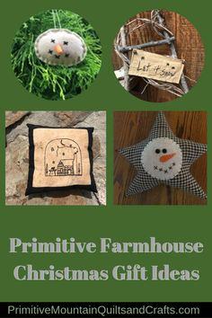 Check out my Primitive Farmhouse Christmas Gift Ideas in this post. They can all be found at my Etsy Shop also. Decorating With Snowmen, Primitive Christmas Decorating, Snowman Decorations, Christmas Tree Decorations, Decorating Ideas, Homemade Decorations, Christmas Sewing, Kids Christmas, Christmas Crafts