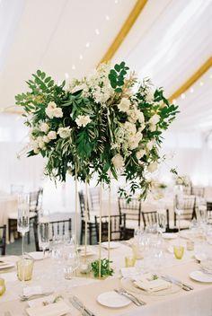 Tall Centerpiece with Greenery - Elizabeth Anne Designs: The Wedding Blog