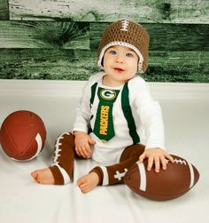 Get The Set - Green Bay Packers Boys Neck Tie Bodysuit Onesie or T-Shirt with Suspenders and Football Hat and Leggings - Size NB to 12 Years Tie Onesie, Onesies, Baby Penguins, Penguin Baby, Packers Baby, Green Bay Packers Fans, Boys Ties, First Birthday Photos, Newborn Photos