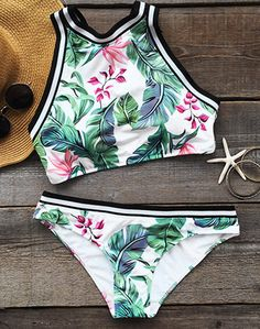 This fashion fresh leaves printing swimwear will be the best fitting you have ever worn!  If you are looking for something new for summer, then this is what you need.