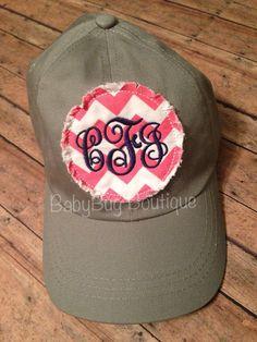 Ladies Monogrammed Ball Cap Sorority Women Customized