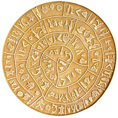 Discovered in 1908, the Phaistos Disc is a disk of fired clay from the Minoan palace of Phaistos on the Greek island of Crete, possibly dating to the middle or late Minoan Bronze Age. It is about 6 in. in diameter and covered on both sides with a spiral of stamped symbols. Its purpose and meaning, and even its original geographical place of manufacture, remain disputed, making it one of the most famous mysteries of archaeology.