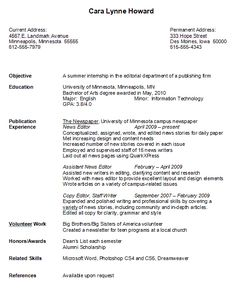 sample college graduate resume resumes for high school students with experience - Sample College Resumes For High School Seniors