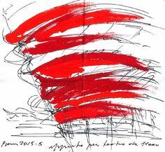 17 croquis de guardanapo feitos por arquitetos famosos,Massimiliano Fuksas. Cortesia de NewSchool and AIAS San Diego