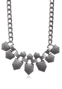 Cascata Silver Hammered Bibb Necklace: New 2015 Jewelry
