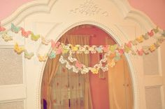 Running With Glitter: Butterfly Garland