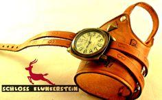 (KUNST)STÜCK 6 Unikat Wickeluhr Armbanduhr Unisex von Schloss Klunkerstein - Uhren, von Hand gefertigter Unikat - Schmuck aus Naturmaterialien, Medaillons, Steampunk -, Shabby - & Vintage - Schätze, sowie viele einzigartige und liebevolle Geschenke ... auf DaWanda.com