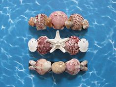 Seashell Hair Clips Shell Hair Barrettes Set by TheSleepySeahorse
