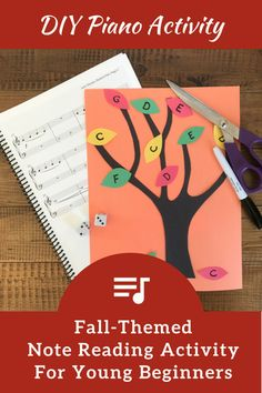 """Your Piano Students Will """"Fall"""" In Love With This DIY Off-Bench Note Reading Activity"""