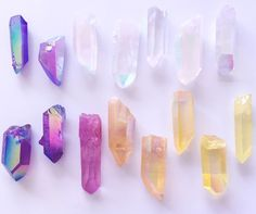 Love the color and iridescent aspect of the crystals. I especially love the blues, pinks and purples