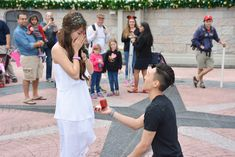 THIS #DISNEY PROPOSAL IS AMAZING. PIXIE DUST AND ALL.