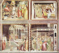 Giovanni da Milano - Storie della Vergine - affresco - 1363-1366 - Cappella…