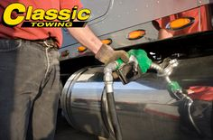 Did your semi-truck, box truck, big rig tractor trailer, or any other commercial truck run out of diesel fuel? If so, let Classic Towing's 24-hour diesel fuel delivery service help you get back up and running. Classic Towing provides high quality diesel fuel, both on the road and off road at construction sites. We deliver premium fuel when you need it most.  We offer fast, reliable diesel delivery all at a competitive price.