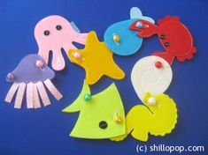 Underwater world buttoning activity felt toy PDF pattern