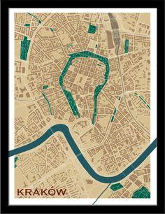 Krakow, Poland, by Cartografika