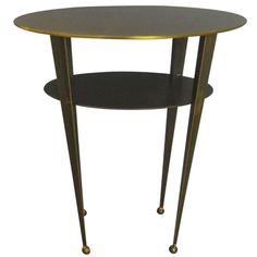 Bronze Oval Table   From a unique collection of antique and modern side tables at http://www.1stdibs.com/furniture/tables/side-tables/